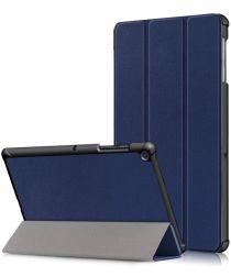 Samsung Galaxy Tab S5e Hoes Tri-Fold Donker Blauw