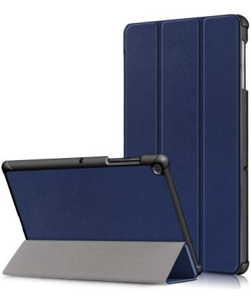 Samsung Galaxy Tab S5e Hoes Tri-Fold Donker Blauw Hoesjes