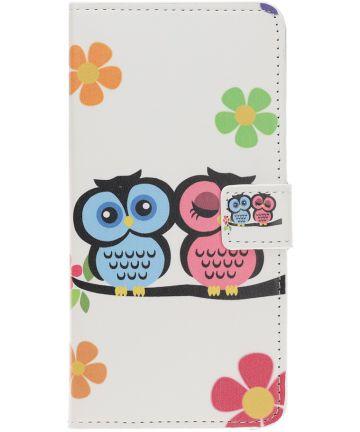 Samsung Galaxy A40 Portemonnee Hoesje met Print Cute Owls Hoesjes