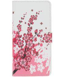 Samsung Galaxy A40 Portemonnee Hoesje met Print Bloesem