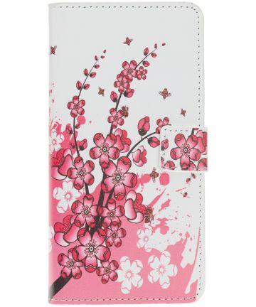 Samsung Galaxy A40 Portemonnee Hoesje met Print Bloesem Hoesjes