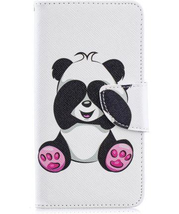 Samsung Galaxy A40 Portemonnee Print Hoesje Panda Hoesjes