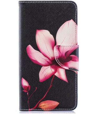 Samsung Galaxy A40 Portemonnee Print Hoesje Bloem Hoesjes