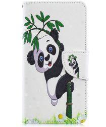 Samsung Galaxy A40 Portemonnee Print Hoesje Lovely Panda