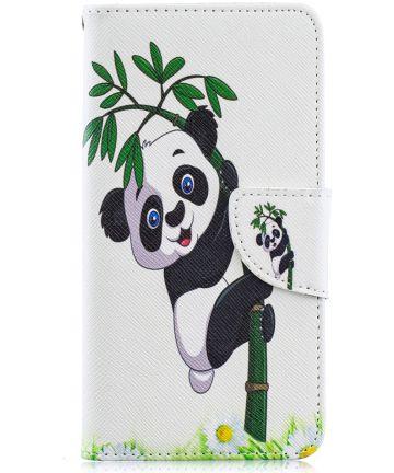 Samsung Galaxy A40 Portemonnee Print Hoesje Lovely Panda Hoesjes
