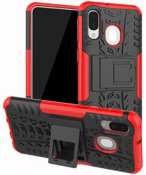 Samsung Galaxy A40 Robuust Hybride Hoesje Rood