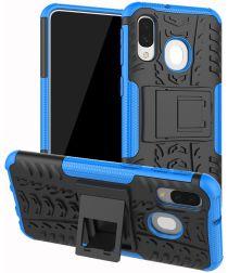 Samsung Galaxy A40 Robuust Hybride Hoesje Blauw