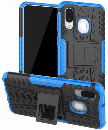 Samsung Galaxy A40 Robuust Hybride Hoesje Blauw Hoesjes