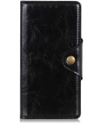 Samsung Galaxy A40 Portemonnee Knoop Hoesje Zwart