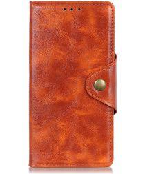 Samsung Galaxy A40 Portemonnee Knoop Hoesje Oranje