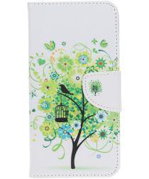 Samsung Galaxy A70 Portemonnee Print Hoesje Tree