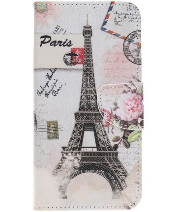 Samsung Galaxy A70 Portemonnee Print Hoesje Eiffeltoren Hoesjes