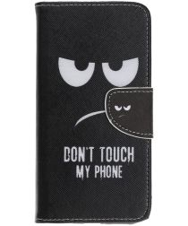Samsung Galaxy A70 Portemonnee Print Hoesje Don't Touch My Phone