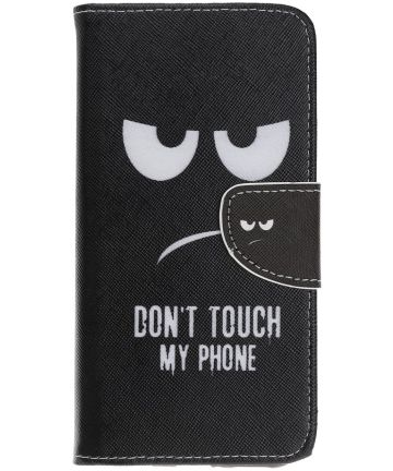 Samsung Galaxy A70 Portemonnee Print Hoesje Don't Touch My Phone Hoesjes