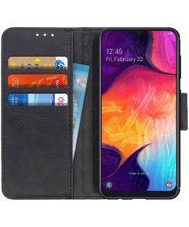 Samsung Galaxy A50 Book Case Hoesje Wallet Stand Kunst Leer Zwart