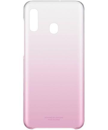 Origineel Samsung Galaxy A20E Hoesje Gradation Cover Roze Hoesjes
