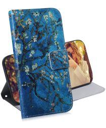 Huawei P30 Portemonnee Hoesje met Print Winter