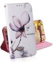 Huawei P30 Portemonnee Hoesje met Print Bloem