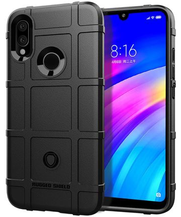 Xiaomi Redmi 7 Rugged Armor Hoesje Zwart Hoesjes