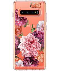 Spigen Ciel by Cyrill Cecile Samsung Galaxy S10 Hoesje Rose Floral