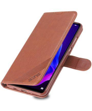 AZNS Huawei P30 Lite Portemonnee Hoesje Bruin Hoesjes