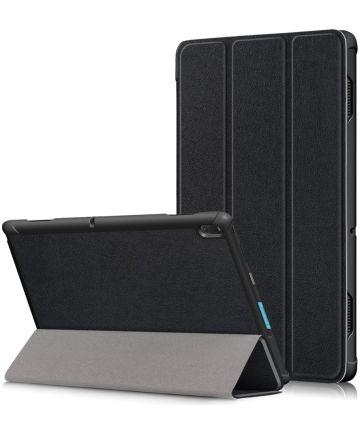 Lenovo Tab E10 Tri-Fold Hoes Zwart Hoesjes
