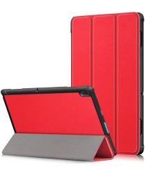 Lenovo Tab E10 Tri-Fold Hoes Rood