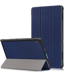 Lenovo Tab E10 Tri-Fold Hoes Blauw