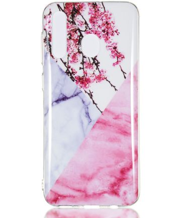 Samsung Galaxy A50 Hoesje TPU Back Cover met Marmer Print Blossom Hoesjes