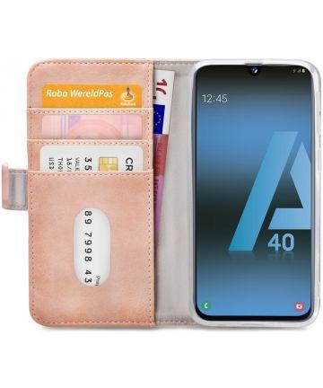 Mobilize Elite Gelly Wallet Samsung Galaxy A40 Hoesje Book Case Roze Hoesjes