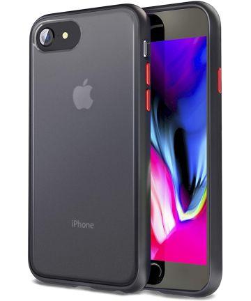 Apple iPhone SE (2020) / 8 / 7 Hoesje Transparant Hybride Zwart Hoesjes
