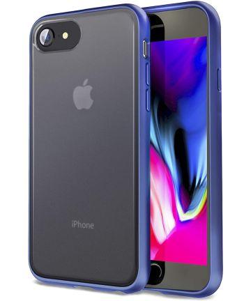 Apple iPhone SE (2020) / 8 / 7 Hoesje Transparant Hybride Zwart/Blauw Hoesjes