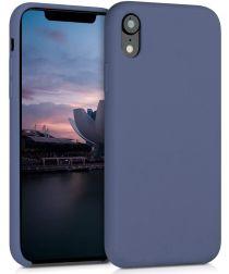 Apple iPhone XR Siliconen Hoesje Blauw