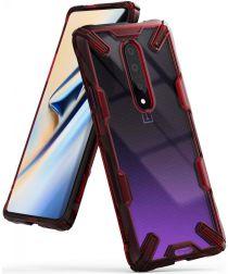 Ringke Fusion X OnePlus 7 Pro Hoesje Rood