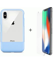 Otterbox Duo Case iPhone X / XS Hoesje + Alpha Glass Sky Blue