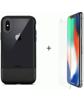 Otterbox Duo Case iPhone X / XS Hoesje + Alpha Glass Zwart