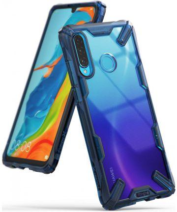 Ringke Fusion X Huawei P30 Lite Hoesje Blauw Hoesjes