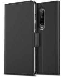OnePlus 7 Pro Luxe Portemonnee Hoesje Zwart