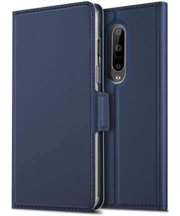 OnePlus 7 Pro Luxe Portemonnee Hoesje Blauw