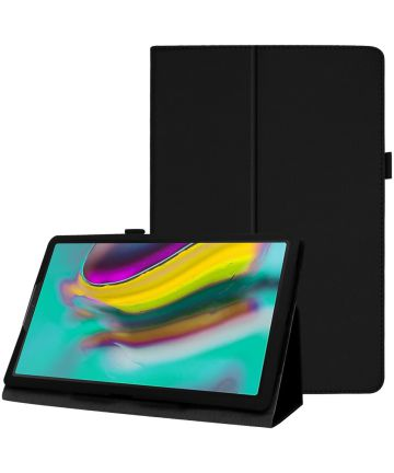 Samsung Galaxy Tab A 10.1 (2019) Two-Fold Book Hoes Zwart Hoesjes