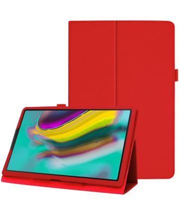 Samsung Galaxy Tab A 10.1 (2019) Two-Fold Book Hoes Rood Hoesjes