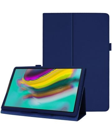 Samsung Galaxy Tab A 10.1 (2019) Two-Fold Book Hoes Blauw Hoesjes