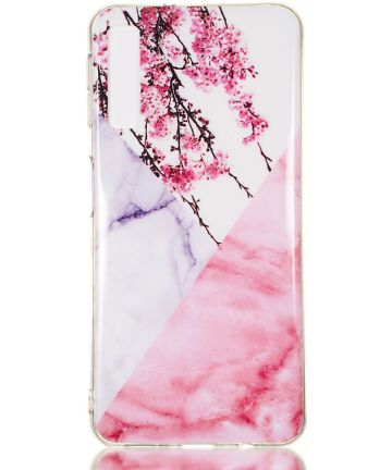 Samsung Galaxy A7 (2018) TPU Back Cover met Marmer Print Blossom Hoesjes