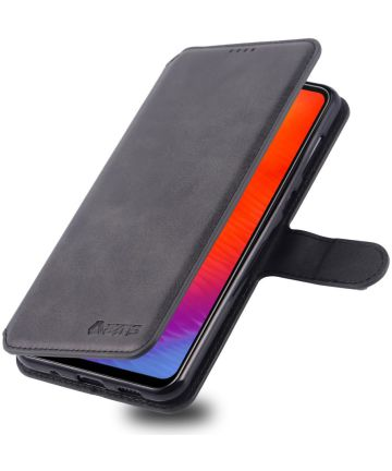 AZNS Samsung Galaxy A40 Portemonnee Stand Hoesje Zwart Hoesjes