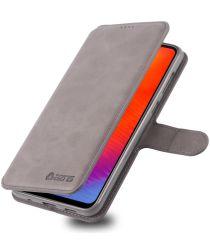 AZNS Samsung Galaxy A40 Portemonnee Stand Hoesje Grijs