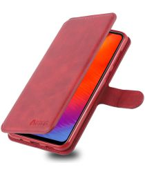 AZNS Samsung Galaxy A40 Portemonnee Stand Hoesje Rood