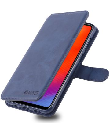 AZNS Samsung Galaxy A40 Portemonnee Stand Hoesje Blauw Hoesjes