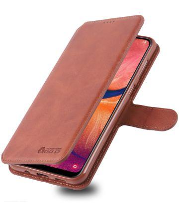 AZNS Samsung Galaxy A40 Portemonnee Stand Hoesje Bruin Hoesjes