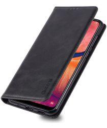 AZNS Retro Samsung Galaxy A40 Portemonnee Stand Hoesje Zwart