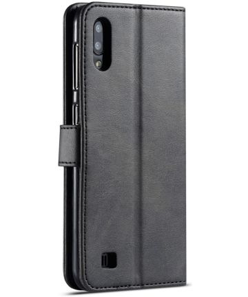 Samsung Galaxy A10 Stijlvol Vintage Portemonnee Bookcase Hoesje Zwart Hoesjes